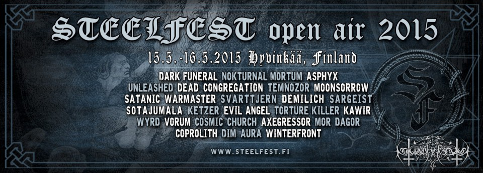 Steelfest 2015 line-up